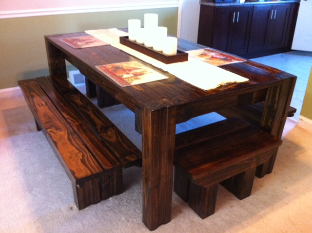 Picnic Table Dining Room. Interior Modern House Dining Room Rustic ...